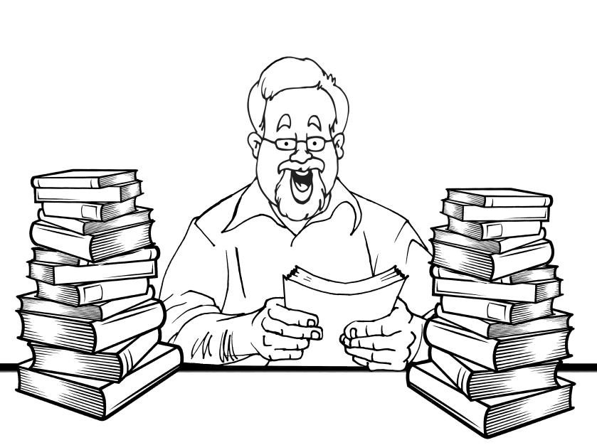 John with books_InPixio